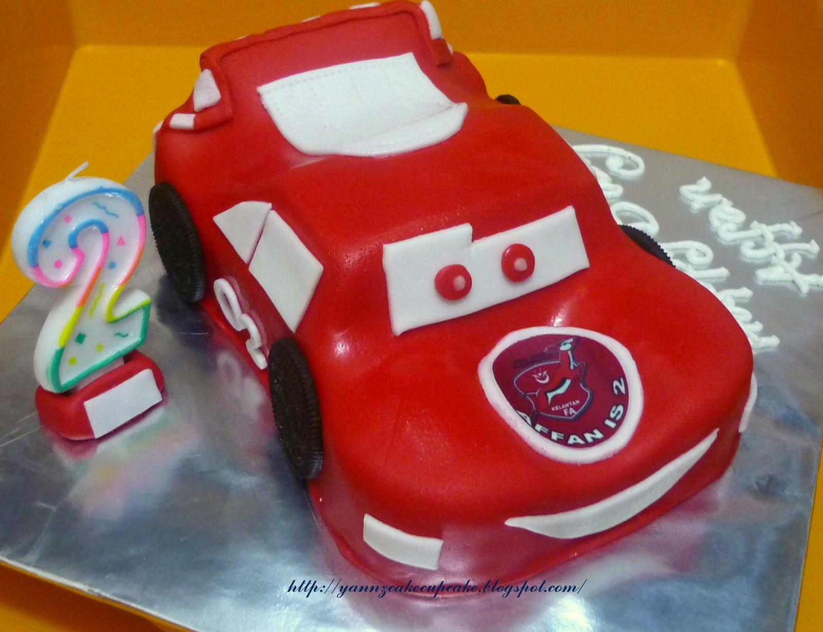 Lightning Mcqueen Car For Little Affan Yannzcakecupcakecom Baju Overall Mqueen Vroom