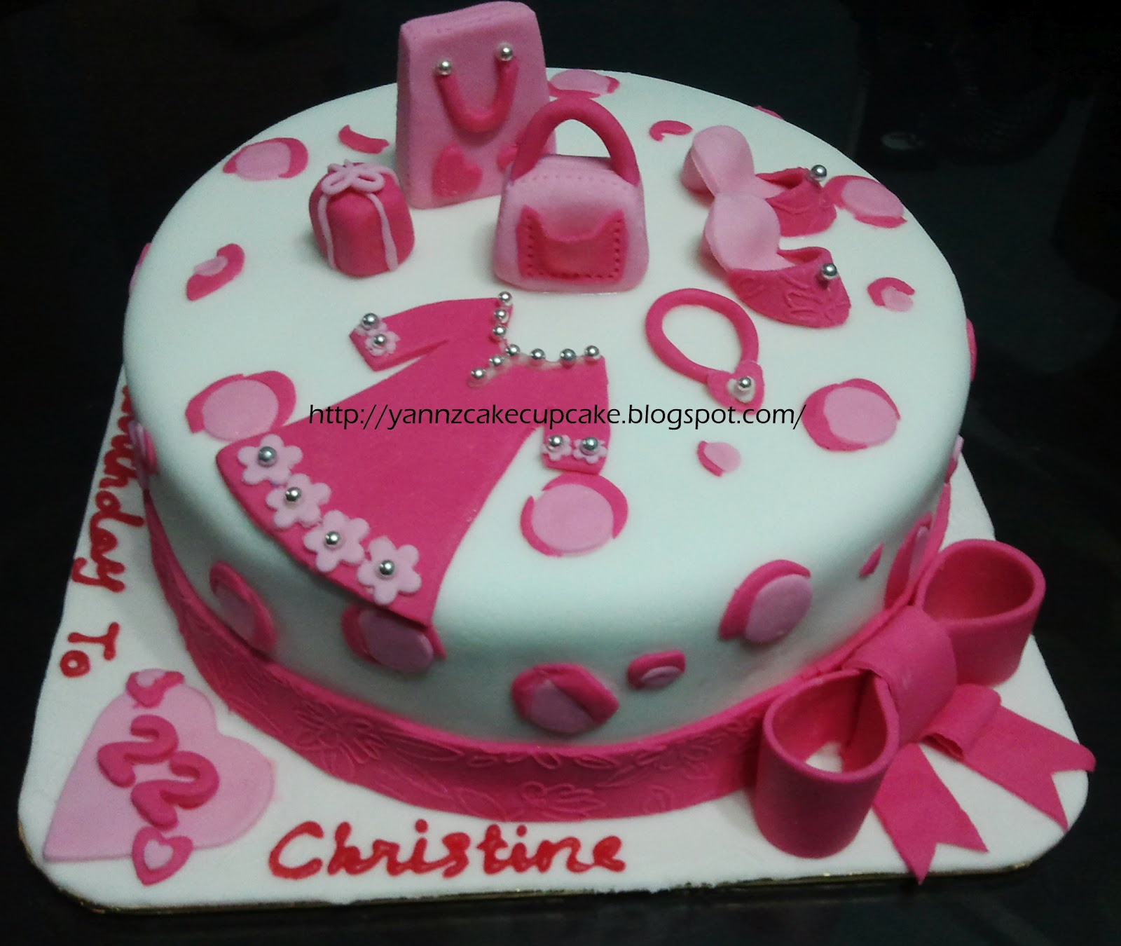 Christine 22nd Bday | yannzcakecupcakecom