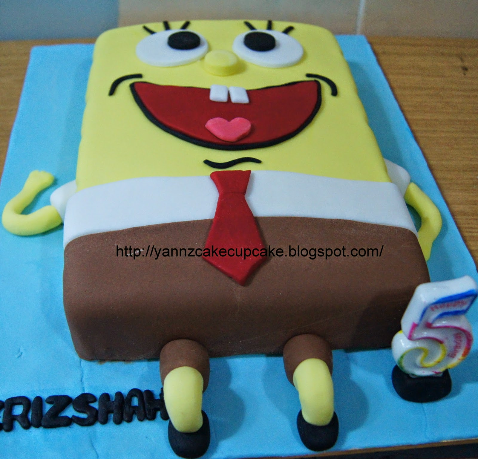 Ms Lisa Request Spongebob Cake For Her Sons Birthday Plus 25 Buttercream Cupcakes With Faces On It Thanks