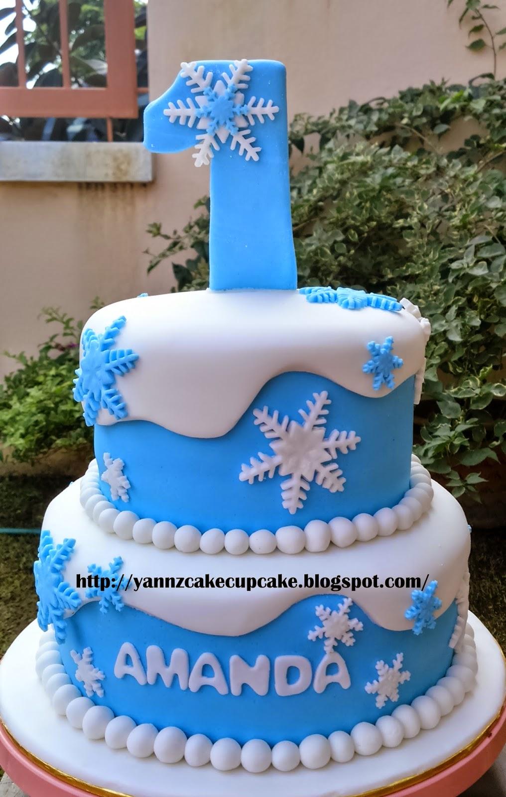 Frozen Cake For Amanda Yannzcakecupcakecom