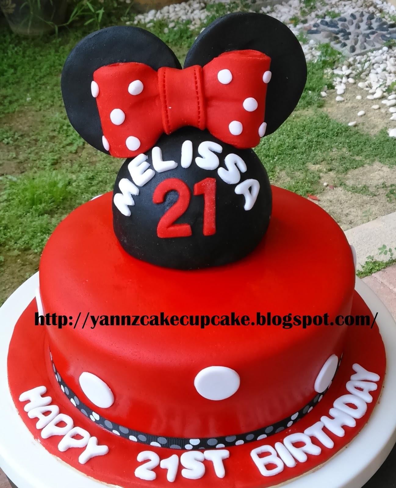 Amazing Johnny Melissa Minnie Cake Yannzcakecupcakecom Personalised Birthday Cards Beptaeletsinfo