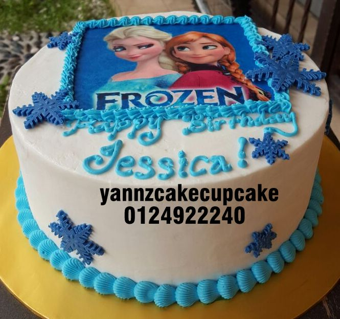 Phenomenal Frozen Cake For Jessica Yannzcakecupcakecom Funny Birthday Cards Online Alyptdamsfinfo