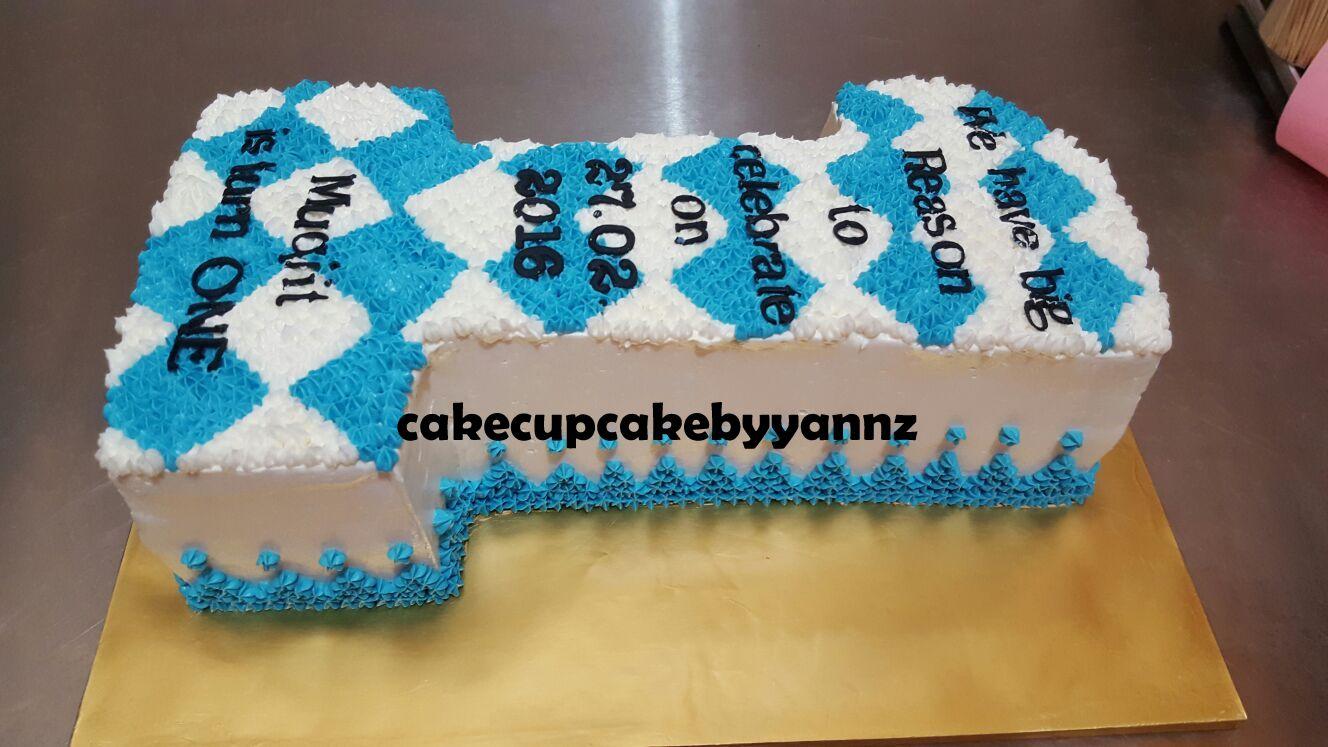 Number 1 birthday cake 12*8 inch cake | yannzcakecupcakecom