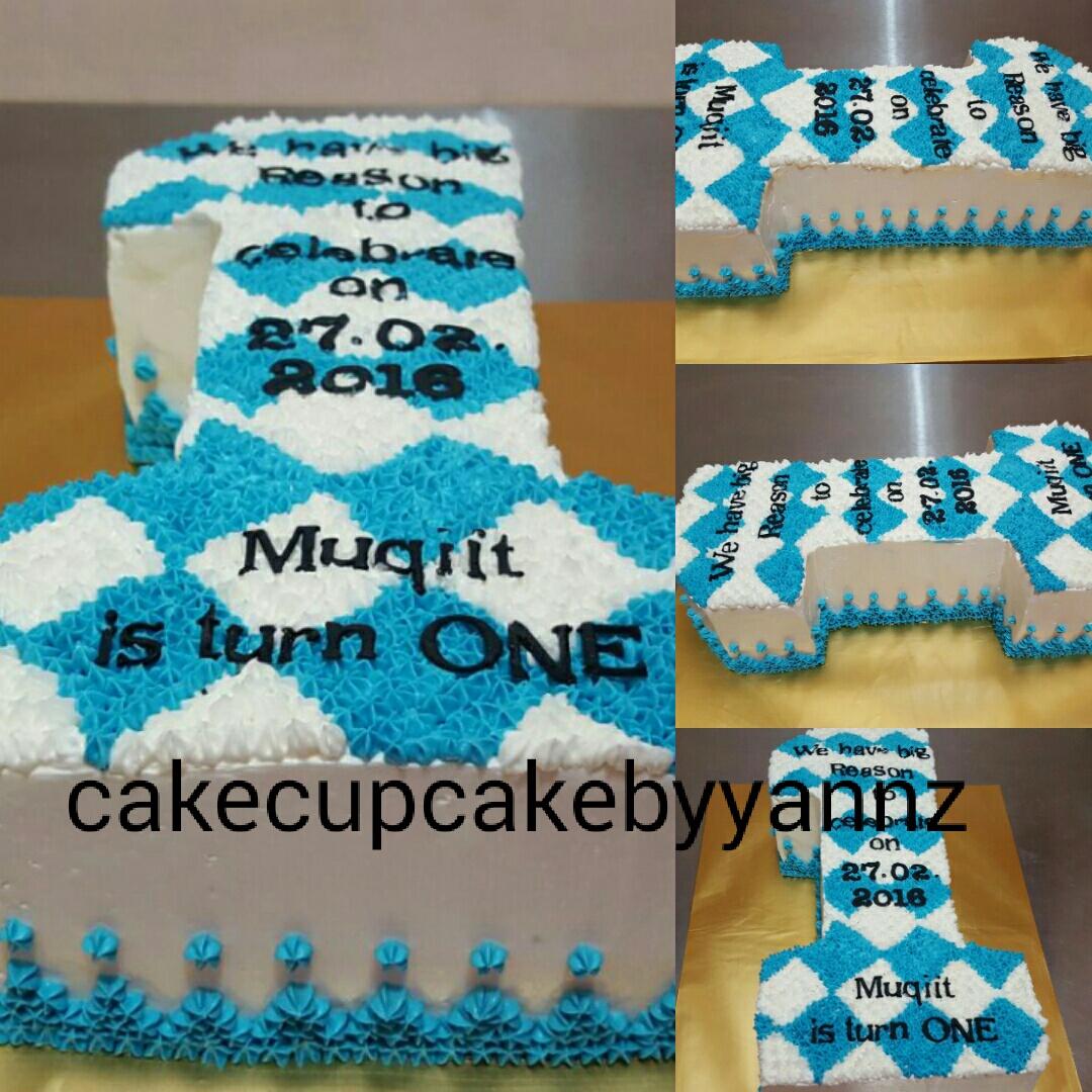 Number 1 Birthday Cake 128 Inch Cake Yannzcakecupcakecom