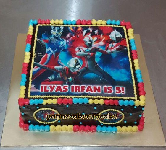 Ultraman Cake Ilyas yannzcakecupcakecom