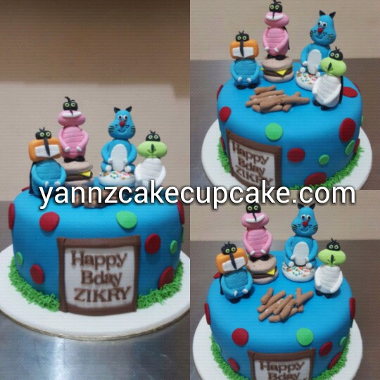 Zarif Oggy and the Cockroaches Cake yannzcakecupcakecom