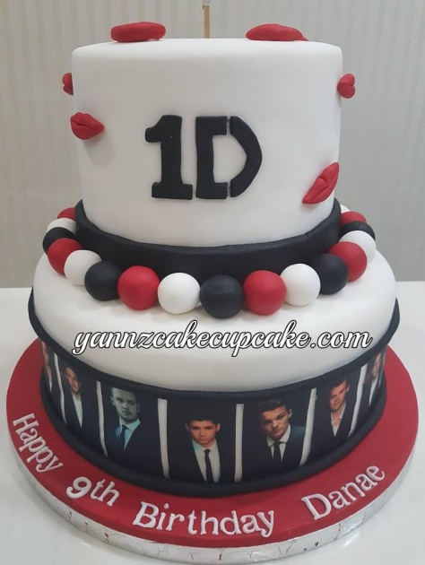 Enjoyable 1D One Direction Cool Cake For Danae 9Th Birthday Personalised Birthday Cards Paralily Jamesorg