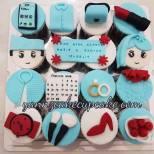 Fondant Hantaran cupcakes