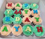 buttercream with alphabet fondant