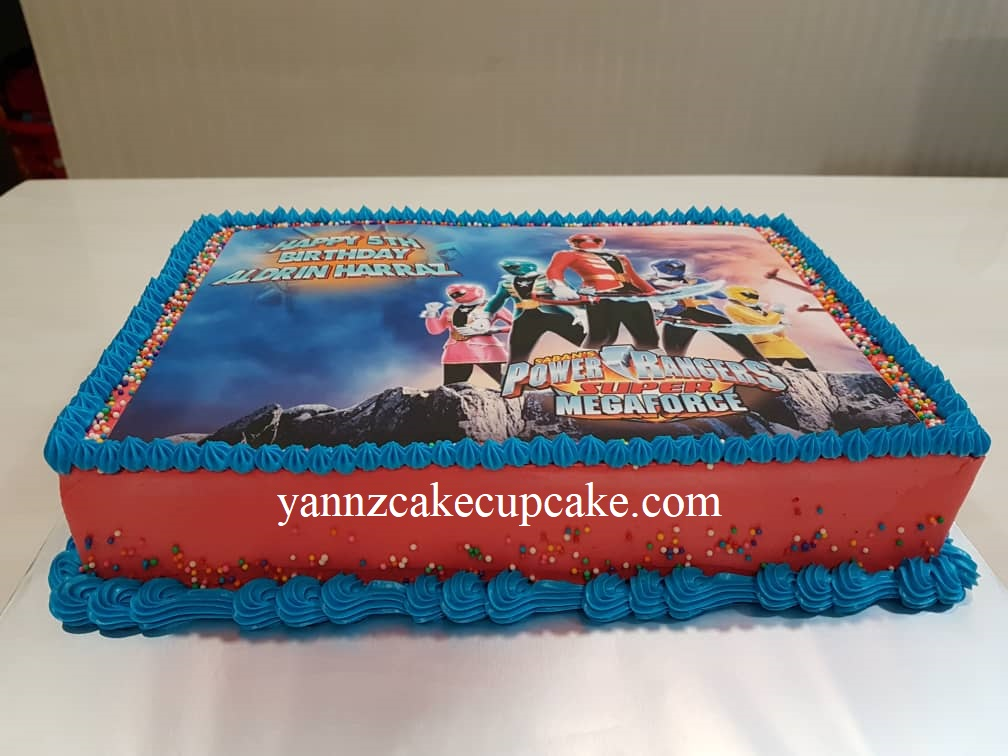 Excellent Power Rangers Cake Yannzcakecupcakecom Funny Birthday Cards Online Inifodamsfinfo