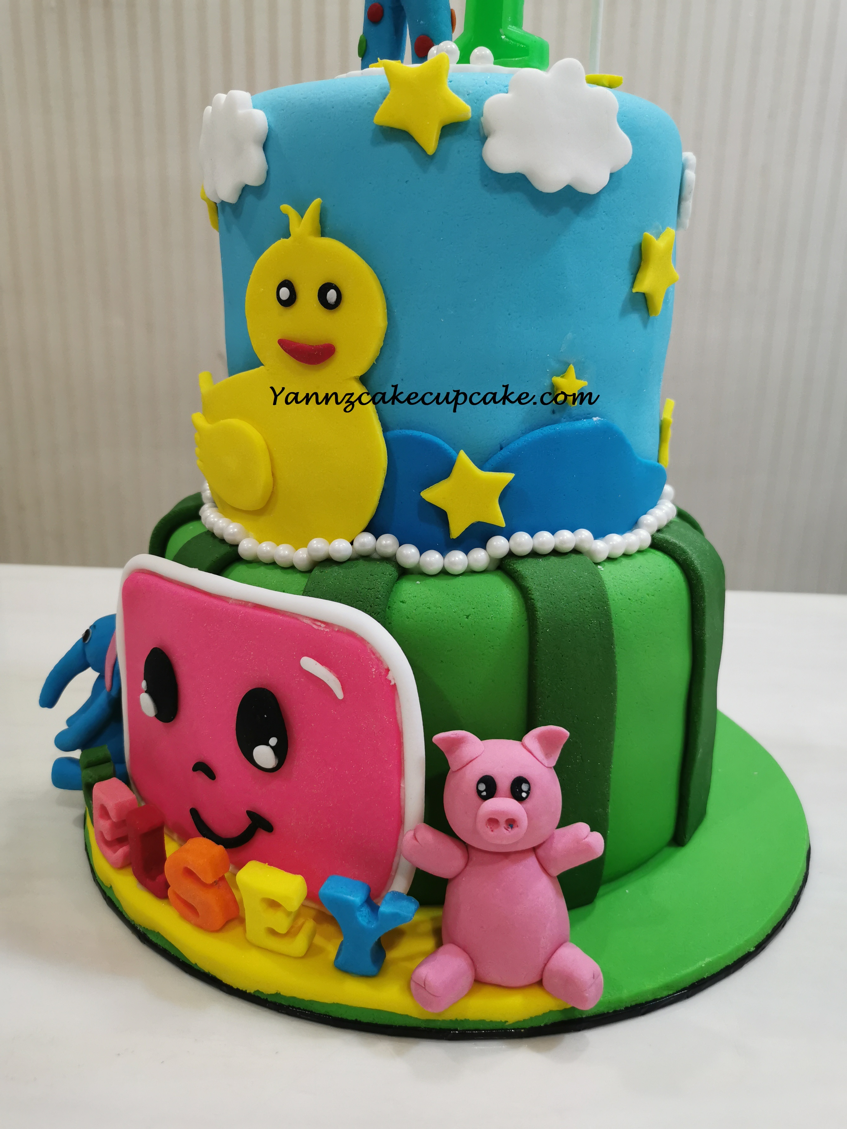 Cocomelon Tier Cake For Kelsey 1st Birthday Yannzcakecupcakecom